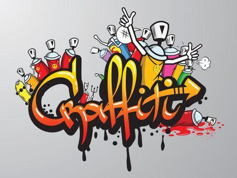 Graffiti characters print