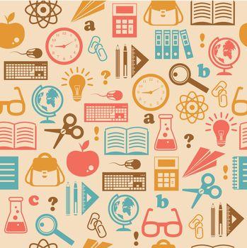 Education seamless wallpaper