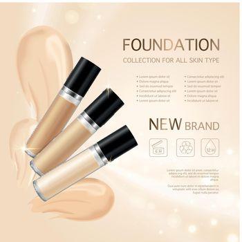 Make Up Foundation Concept