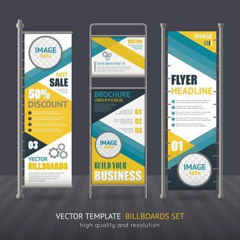 Promotional Vertical Billboard Set