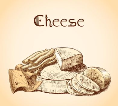 Cheese sketch poster