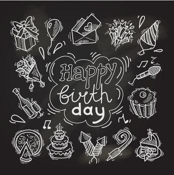 Birthday sketch chalkboard