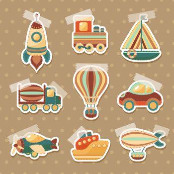 Transport toy stickers set