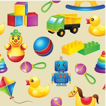 Toys seamless pattern