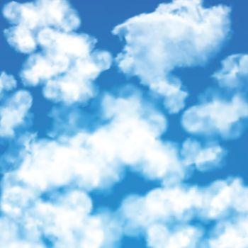 Sky clouds seamless pattern