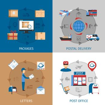 Mail Concept Icons Set