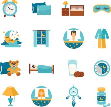 Flat Icons Sleep Time