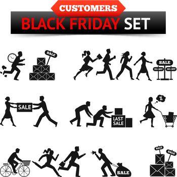 Black Friday Sale Customers Set
