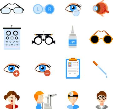 Ophthalmology Icons Set