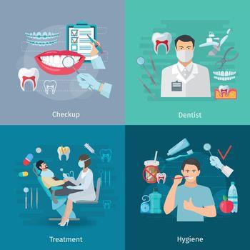 Teeth Care Square Concept