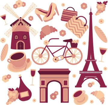 Paris symbols collection