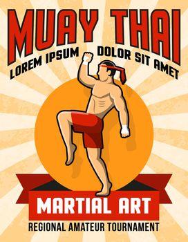 Muay Thai Martial Art Poster