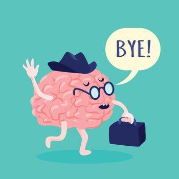 Brain In Hat Illustration
