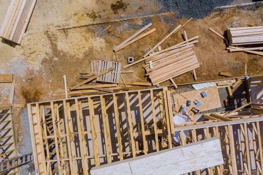 Stacked wooden building materials a stack of boards wood frame and beam construction