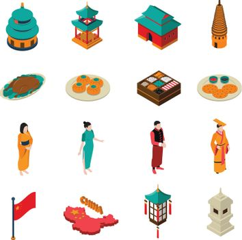 China Isometric Touristic Set