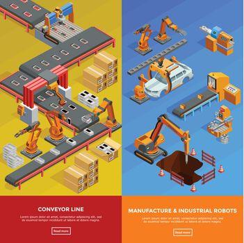 Robotic Conveyor Line 2 Isometric Banners