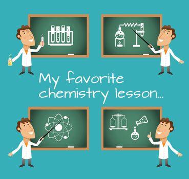 Chemistry lesson chalkboards