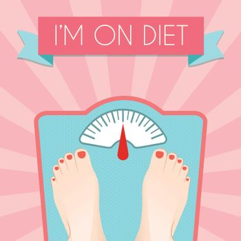 Healthy diet weight poster