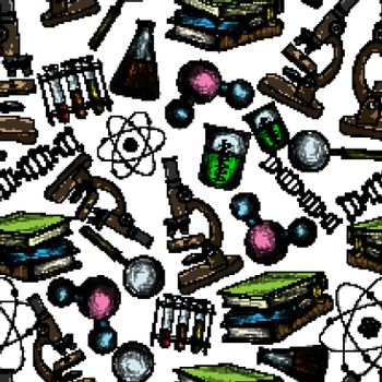 Science sketch seamless wallpaper