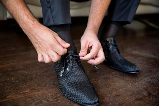 Groom Cuff Button, Bowtie & Shoes, Grooming, Wedding Preparation