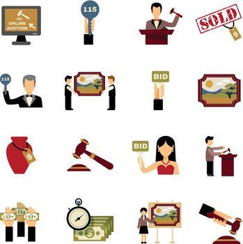 Auction Icons Set