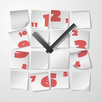Creative clock with digits