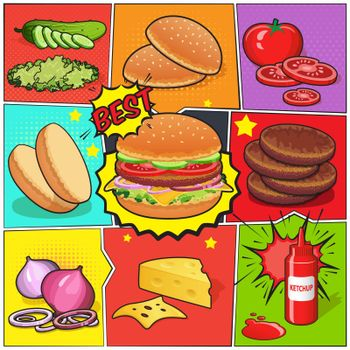 Burger Comic Book Page