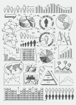 Sketch diagrams infographics