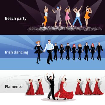 Dancing People Banners