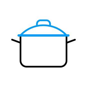 Saucepan vector icon. Cooking pot or pan sign