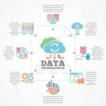 Data Analytics Infographic Flat Icons Banner