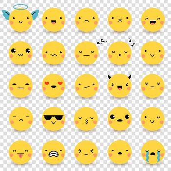 Emoticons Transparent Set