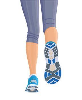 Runing female legs
