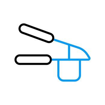 Garlic press vector flat icon. Kitchen appliance
