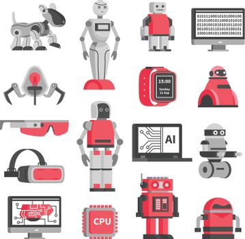 Artificial Intelligence Decorative Icons Set