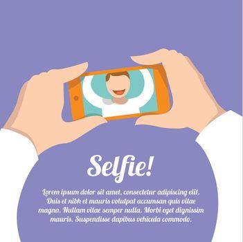 Selfie self portrait poster
