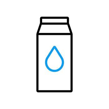 Kitchen vector flat icon carton of milk