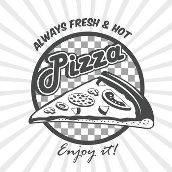 Pizza slice advertising poster