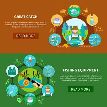 Fishing Equipment Horizontal Banners