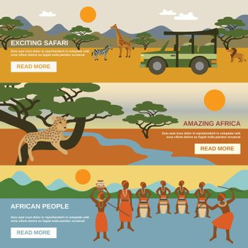 Africa Banners Set