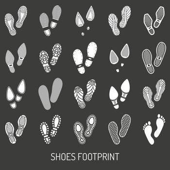 Shoes Footprint Set