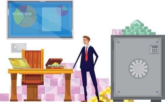 Rich Financial Clerk Composition