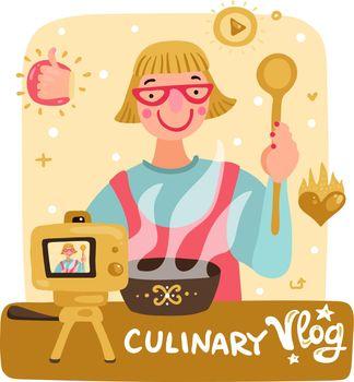 Video Blogger Illustration
