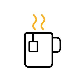 Cup of coffee tea with steam vector icon