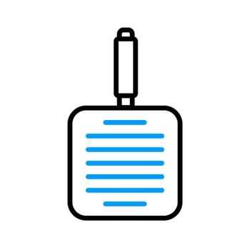 Grill pan vector flat icon. Kitchen appliance