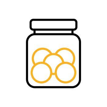 Cookie jar vector flat icon. Kitchen appliance