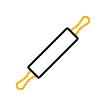 Wooden rolling pin plunger vector flat icon