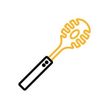 Kitchenware spaghetti spoon vector icon. Kitchen appliances