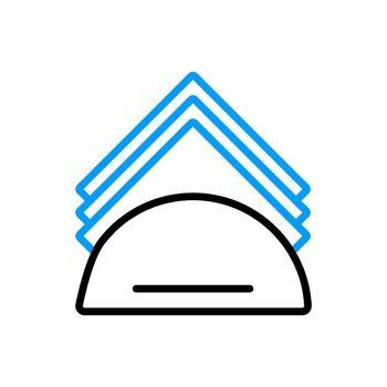 Napkins and napkin holder vector flat icon
