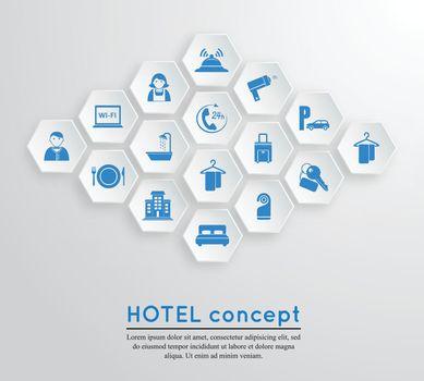 Hotel travel accommodation emblem